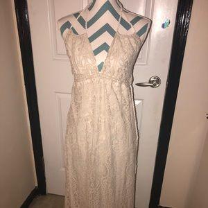 LoveStitch Open Back Lace Dress